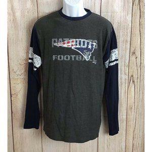 Men's Majestic New England Patriots Shirt Sz L